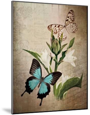 Butterfly Botanical II-Debra Van Swearingen-Mounted Art Print