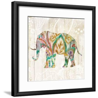 Boho Paisley Elephant II v2-Danhui Nai-Framed Art Print