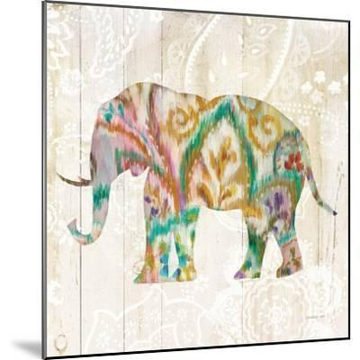 Boho Paisley Elephant II v2-Danhui Nai-Mounted Art Print