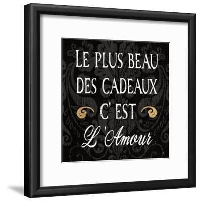 Inspirational Collage I French on Black-Daphne Brissonnet-Framed Art Print