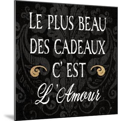Inspirational Collage I French on Black-Daphne Brissonnet-Mounted Art Print