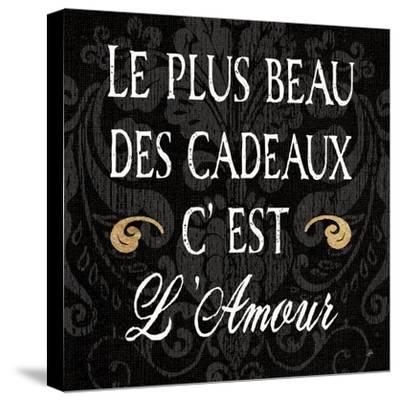 Inspirational Collage I French on Black-Daphne Brissonnet-Stretched Canvas Print