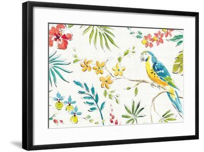 Tropical Oasis II White-Daphne Brissonnet-Framed Art Print
