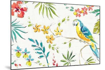 Tropical Oasis II White-Daphne Brissonnet-Mounted Art Print