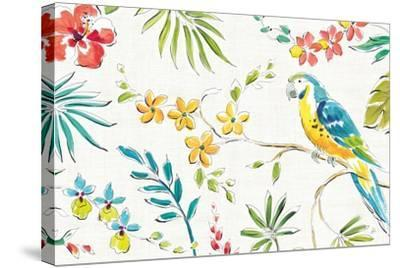 Tropical Oasis II White-Daphne Brissonnet-Stretched Canvas Print