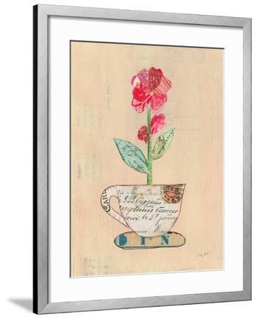 Teacup Floral IV on Print-Courtney Prahl-Framed Art Print