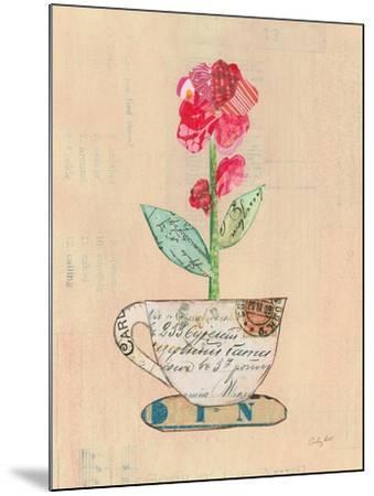 Teacup Floral IV on Print-Courtney Prahl-Mounted Art Print
