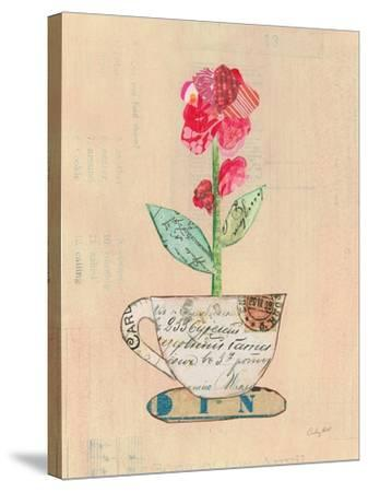Teacup Floral IV on Print-Courtney Prahl-Stretched Canvas Print