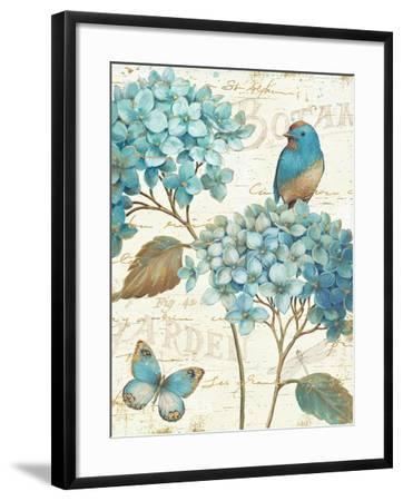Blue Garden III Crop-Daphne Brissonnet-Framed Art Print