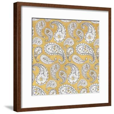 Color my World Paisley Pattern Gold-Daphne Brissonnet-Framed Art Print