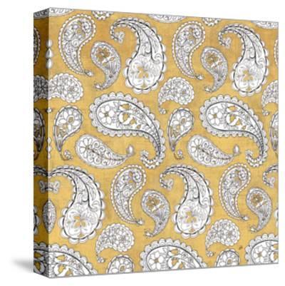 Color my World Paisley Pattern Gold-Daphne Brissonnet-Stretched Canvas Print