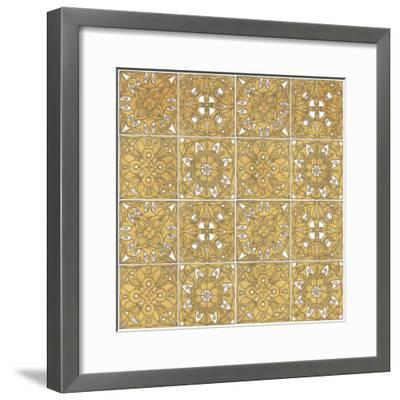 Color my World Mexican Tiles Pattern Gold-Daphne Brissonnet-Framed Art Print