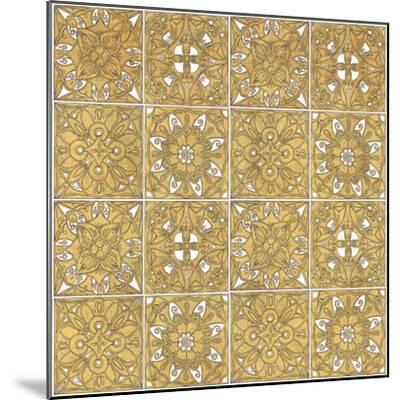Color my World Mexican Tiles Pattern Gold-Daphne Brissonnet-Mounted Art Print