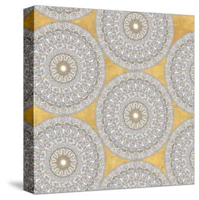 Color my World Mandala Pattern Gold-Daphne Brissonnet-Stretched Canvas Print