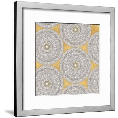 Color my World Mandala Pattern Gold-Daphne Brissonnet-Framed Art Print