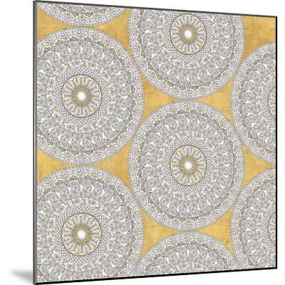 Color my World Mandala Pattern Gold-Daphne Brissonnet-Mounted Art Print