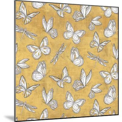 Color my World Butterfly Pattern Gold-Daphne Brissonnet-Mounted Art Print