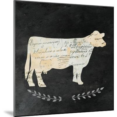 La Vache Cameo Sq no Words-Courtney Prahl-Mounted Art Print