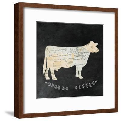 La Vache Cameo Sq no Words-Courtney Prahl-Framed Art Print