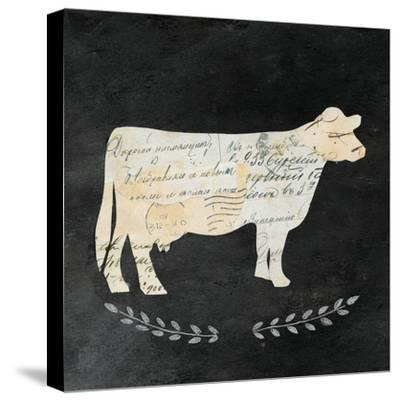 La Vache Cameo Sq no Words-Courtney Prahl-Stretched Canvas Print