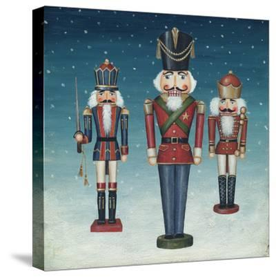 Soldier Nutcrackers Snow-David Cater Brown-Stretched Canvas Print