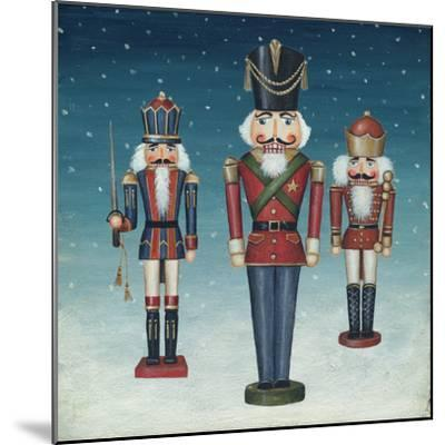 Soldier Nutcrackers Snow-David Cater Brown-Mounted Art Print