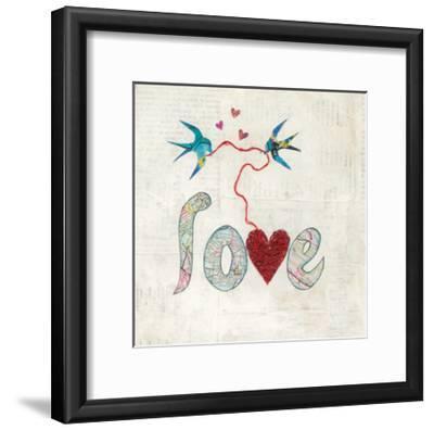 Red Heart-Courtney Prahl-Framed Art Print