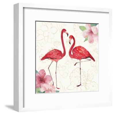 Tropical Fun Bird IV with Gold-Harriet Sussman-Framed Art Print