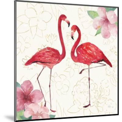 Tropical Fun Bird IV with Gold-Harriet Sussman-Mounted Art Print