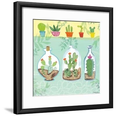 Cacti Garden I no Birds and Butterflies-Farida Zaman-Framed Art Print