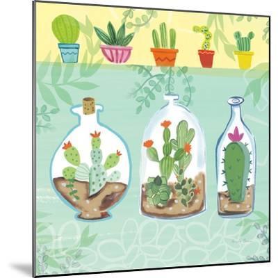 Cacti Garden I no Birds and Butterflies-Farida Zaman-Mounted Art Print