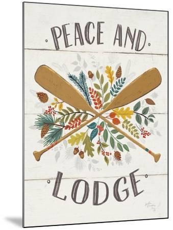 Peace and Lodge IV v2-Janelle Penner-Mounted Art Print