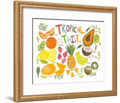 Fruity Smoothie II on White-Farida Zaman-Framed Art Print