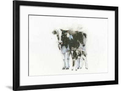 Cow and Calf Light-Emily Adams-Framed Art Print
