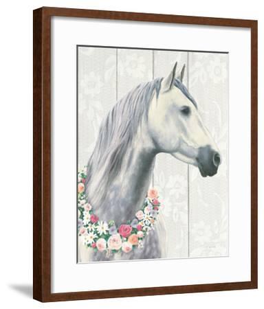 Spirit Stallion I on Wood Crop-James Wiens-Framed Art Print