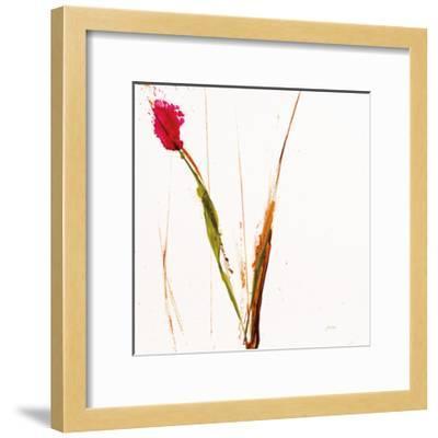 Pink Buds I on White-Jan Griggs-Framed Art Print
