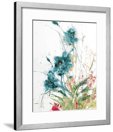 Flora Blue Crop on White-Jan Griggs-Framed Art Print