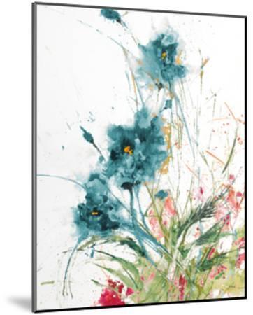 Flora Blue Crop on White-Jan Griggs-Mounted Art Print