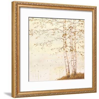 Golden Birch II Off White-James Wiens-Framed Art Print