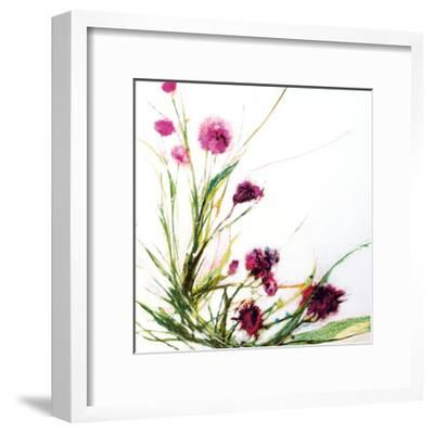 Flowers in the Wind on White-Jan Griggs-Framed Art Print