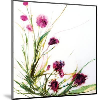 Flowers in the Wind on White-Jan Griggs-Mounted Art Print