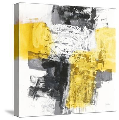 Action I Yellow and Black Sq-Jane Davies-Stretched Canvas Print