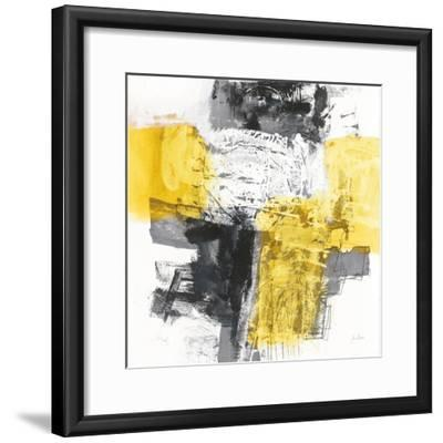 Action I Yellow and Black Sq-Jane Davies-Framed Art Print