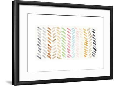 Watercolor Swipes-Elyse DeNeige-Framed Art Print