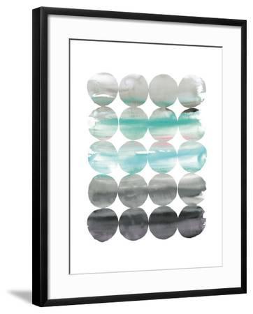 Summer Dots v2 Neutral-Elyse DeNeige-Framed Art Print