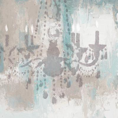 Candelabra Teal I-James Wiens-Stretched Canvas Print