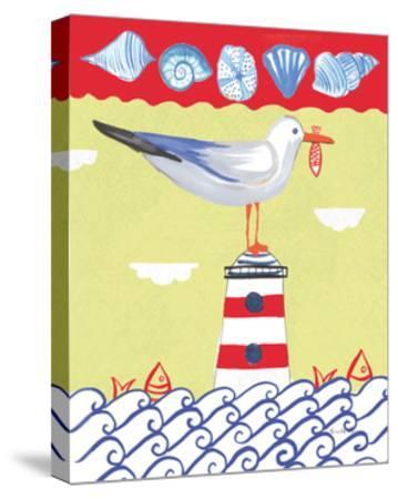 Coastal Bird I-Farida Zaman-Stretched Canvas Print