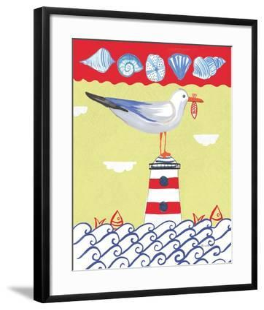 Coastal Bird I-Farida Zaman-Framed Art Print