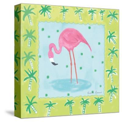 Flamingo Dance III-Farida Zaman-Stretched Canvas Print