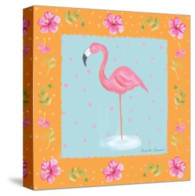 Flamingo Dance IV-Farida Zaman-Stretched Canvas Print